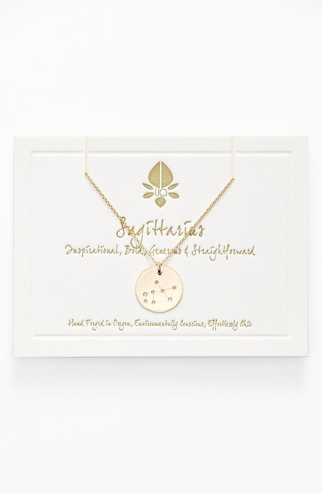 Ija 'Small Zodiac' 14k-Gold Fill Necklace,                             Main thumbnail 1, color,                             14K Gold Fill Sagitarus