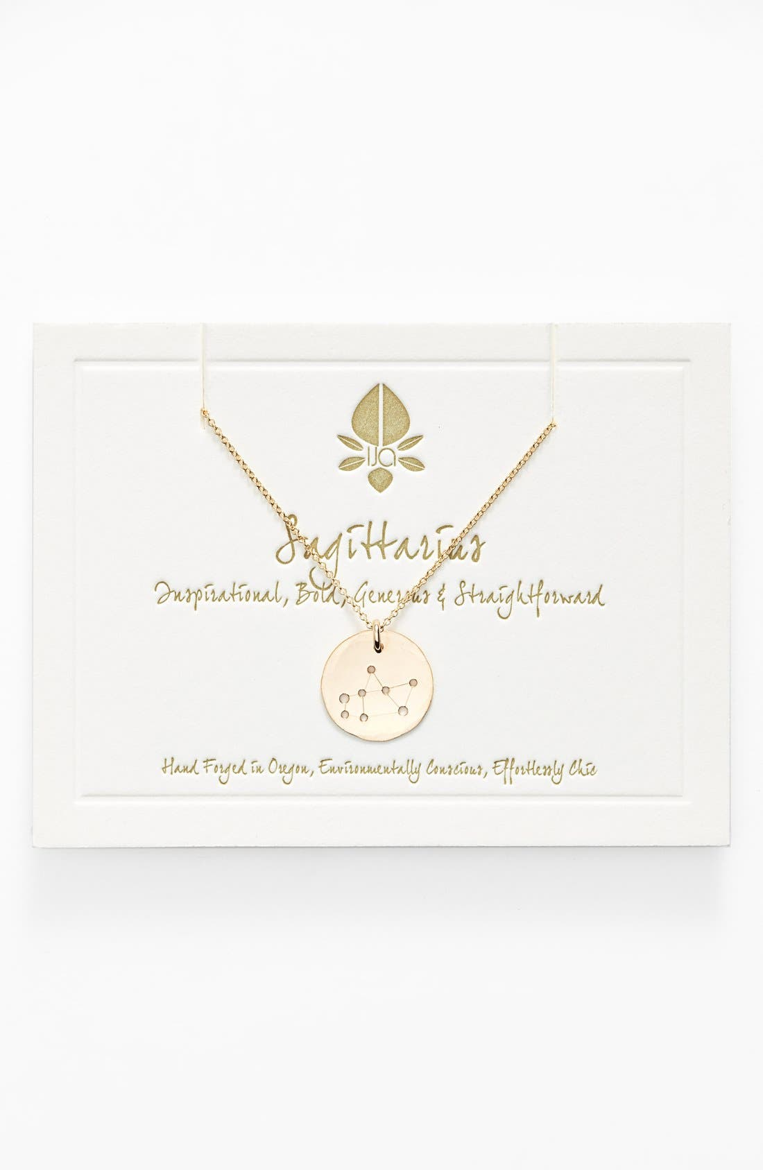 Ija 'Small Zodiac' 14k-Gold Fill Necklace,                         Main,                         color, 14K Gold Fill Sagitarus