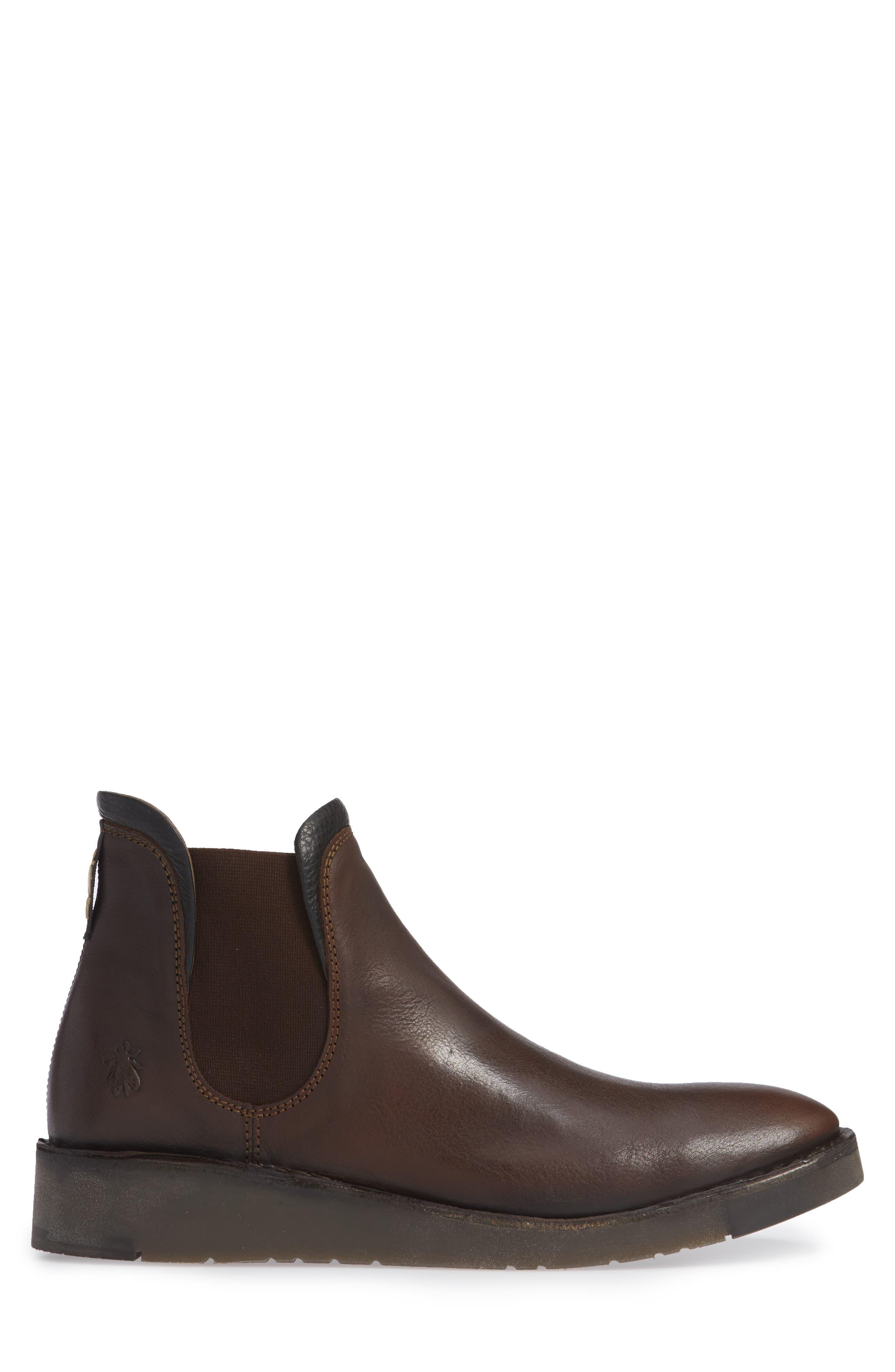 Sern Water Resistant Chelsea Boot,                             Alternate thumbnail 6, color,                             Brown Apso