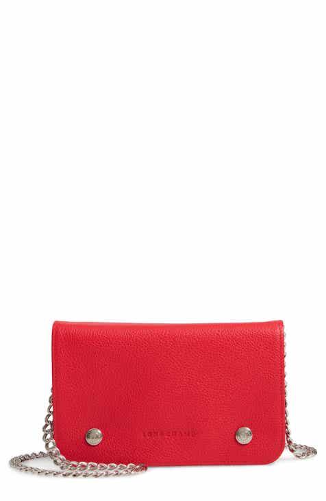 770c7d3fbe94 Longchamp Le Foulonné Leather Wallet on a Chain