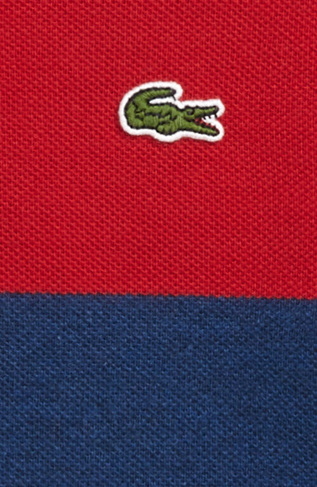 Bicolor Stripe Piqué Polo,                             Alternate thumbnail 2, color,                             Lighthouse Red