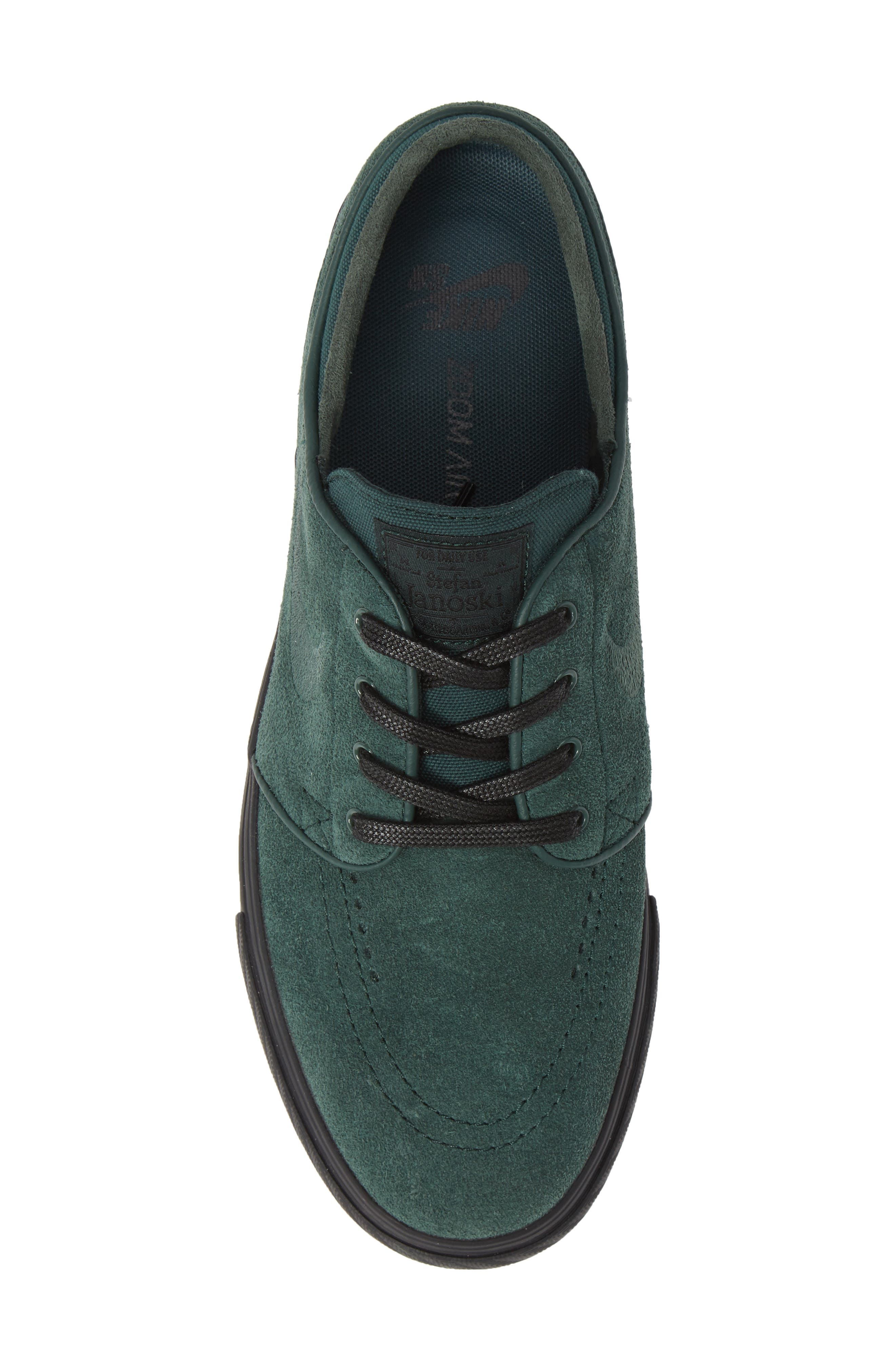 'Zoom - Stefan Janoski' Skate Shoe,                             Alternate thumbnail 3, color,                             Midnight Green/ Black