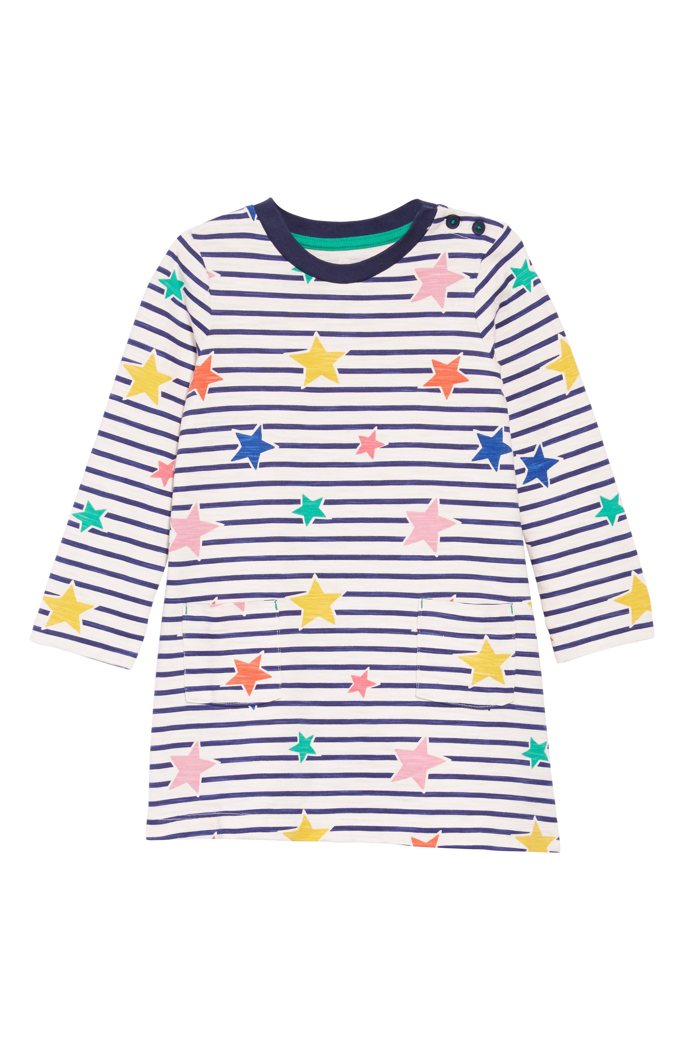 Stripy Jersey Dress,                             Main thumbnail 1, color,                             Str Star Stripe
