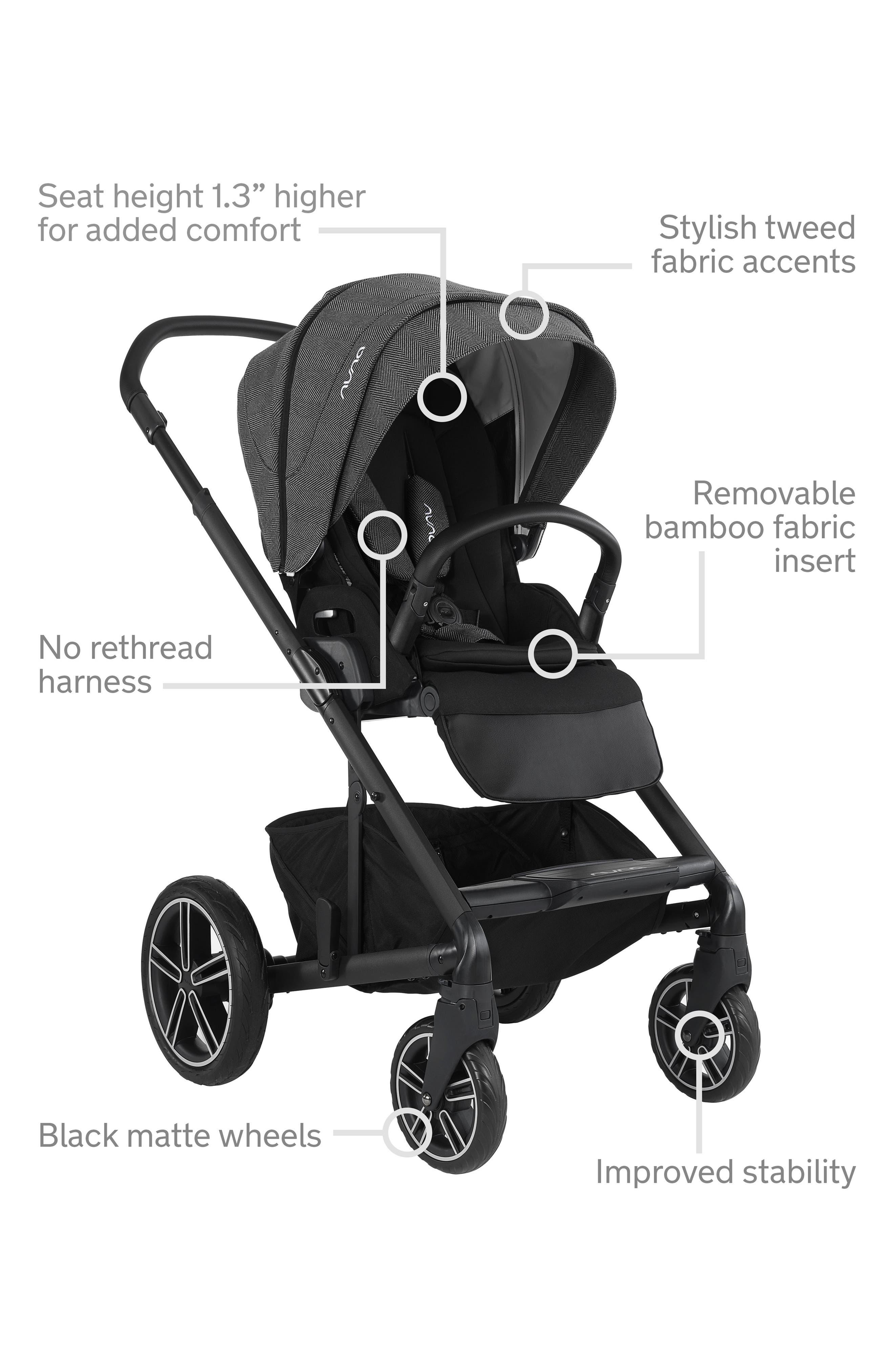2019 MIXX<sup>™</sup> Stroller & PIPA<sup>™</sup> Lite LX Infant Car Seat Set Travel System,                             Alternate thumbnail 19, color,                             Verona Caviar