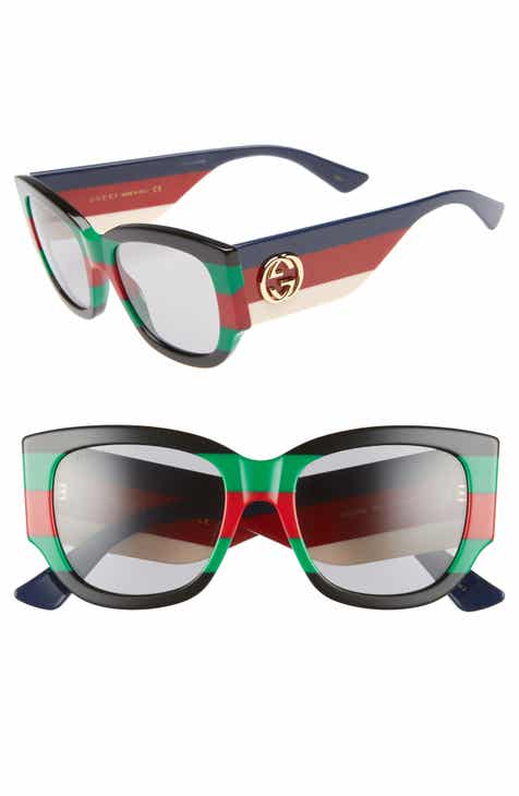 4cf6affb346 Gucci 53mm Striped Cat Eye Sunglasses