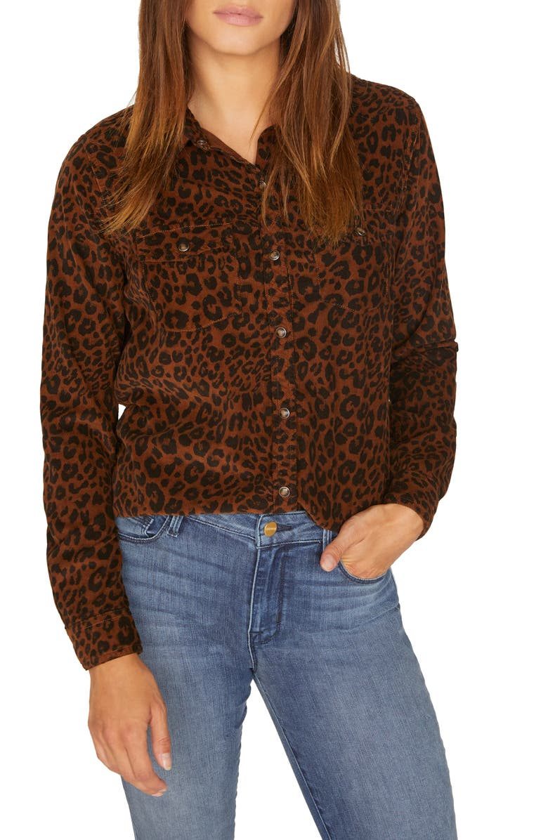 Leopard Cotton Corduroy Work Shirt | Nordstrom