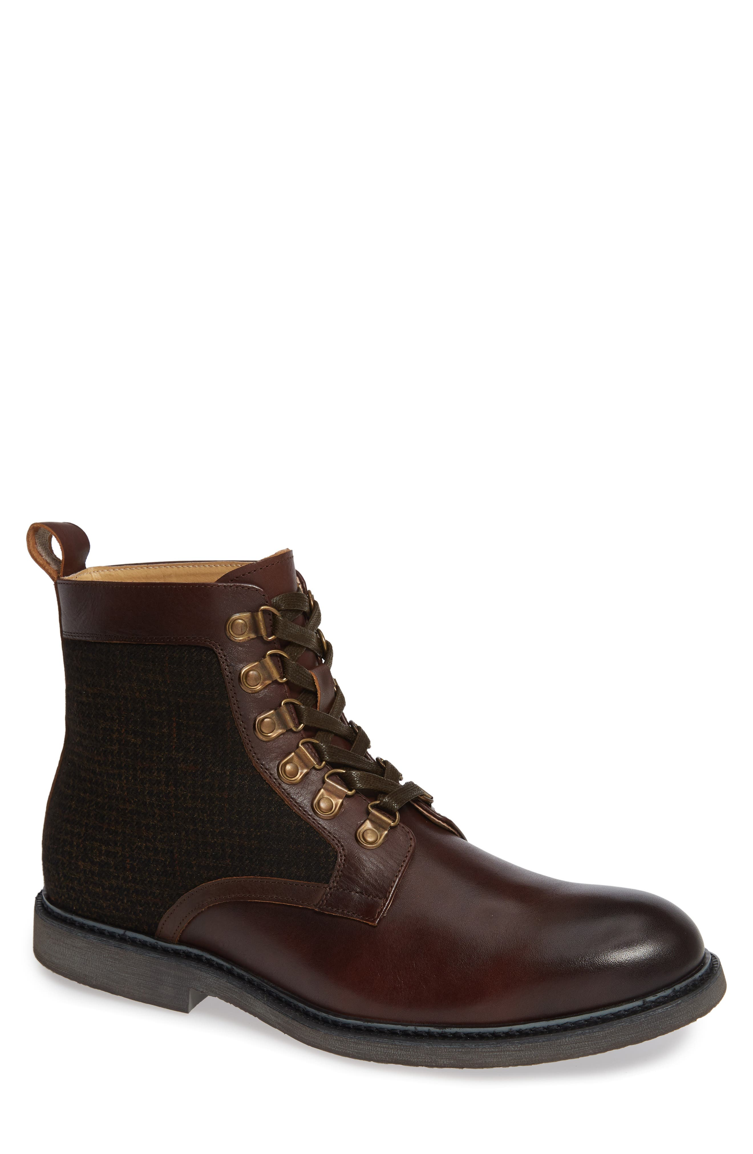 ENGLISH LAUNDRY Bradford Textured Suede Boot in Brown