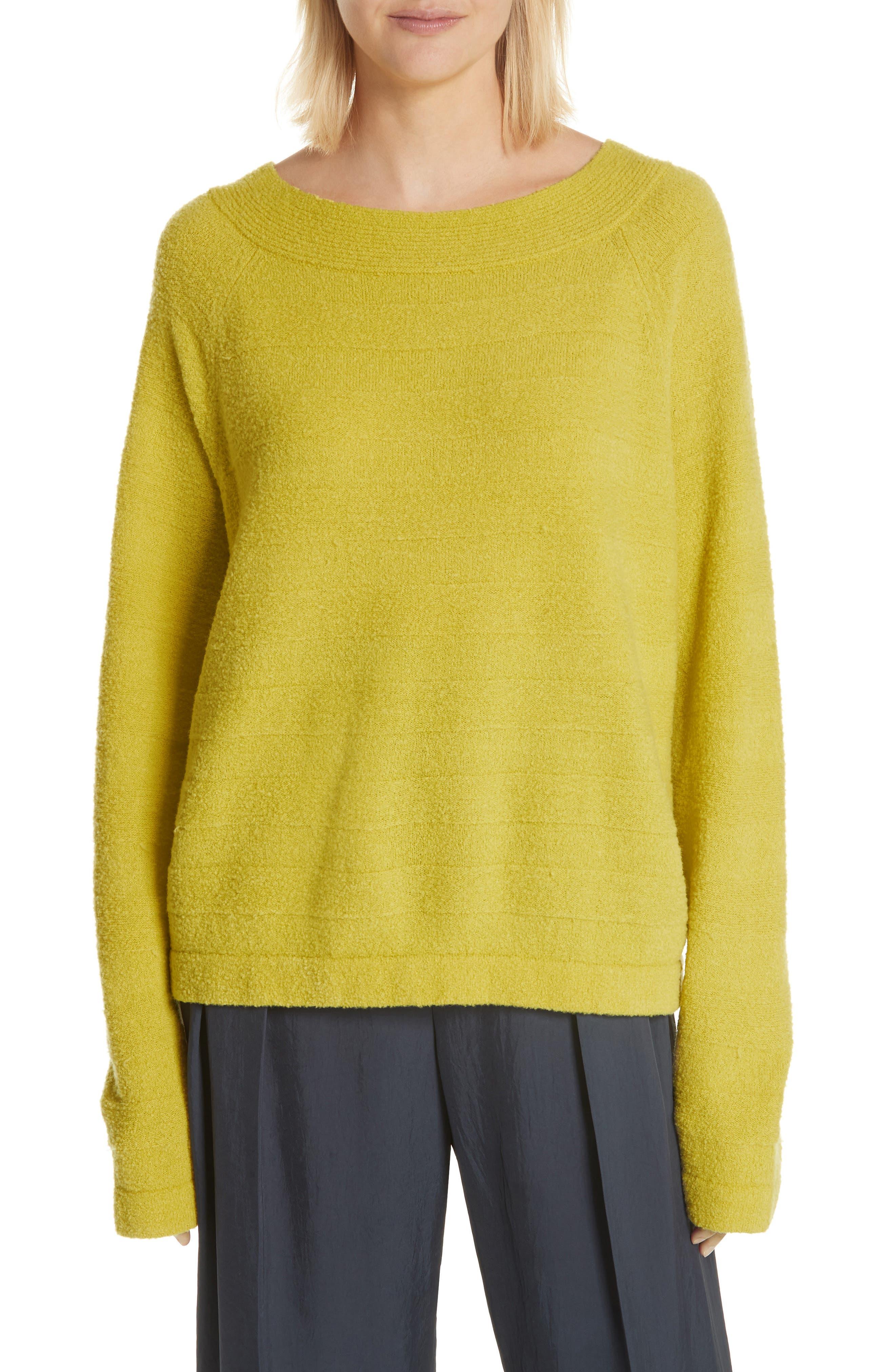 Merino Wool Blend Knit Sweater,                             Main thumbnail 1, color,                             Zest