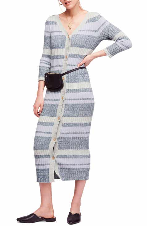 Free People Cozy Up Cardigan Maxi Dress