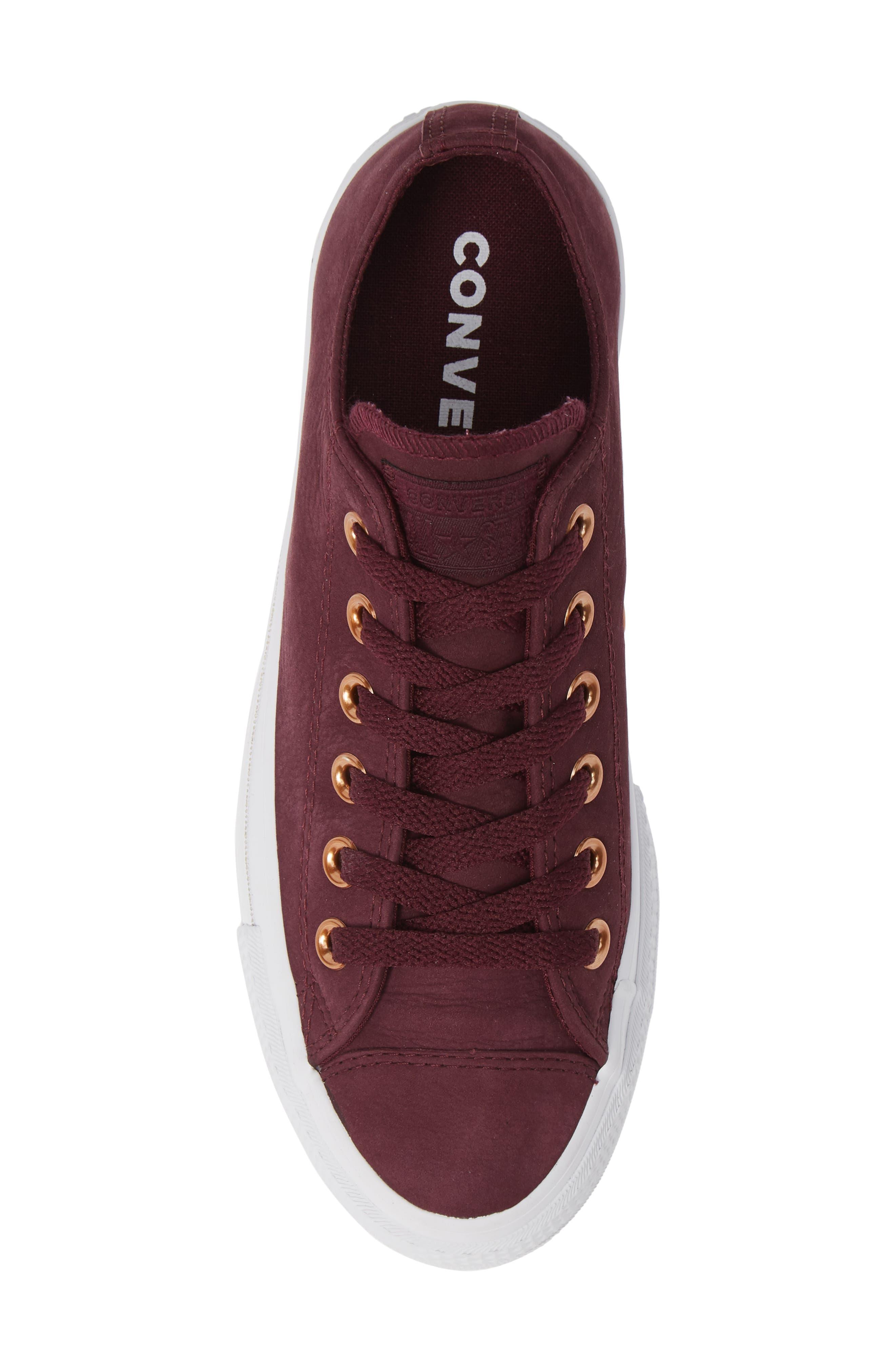 Chuck Taylor<sup>®</sup> All Star<sup>®</sup> Platform Sneaker,                             Alternate thumbnail 4, color,                             Dark Sangria Nubuck