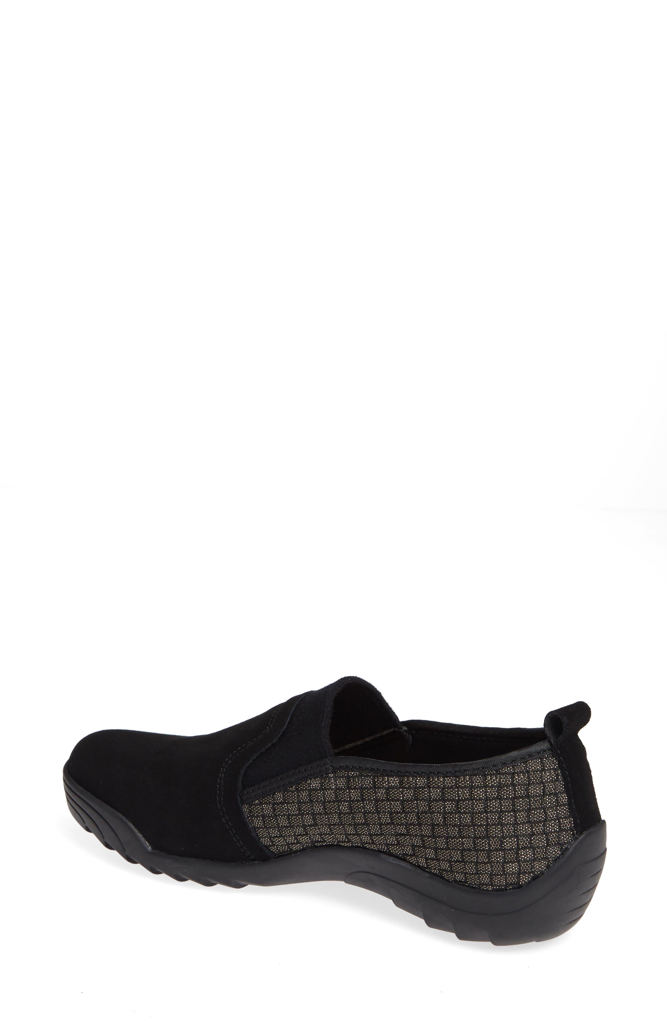Swift Slip-On Sneaker,                             Alternate thumbnail 2, color,                             Gold Black Shimmer Leather