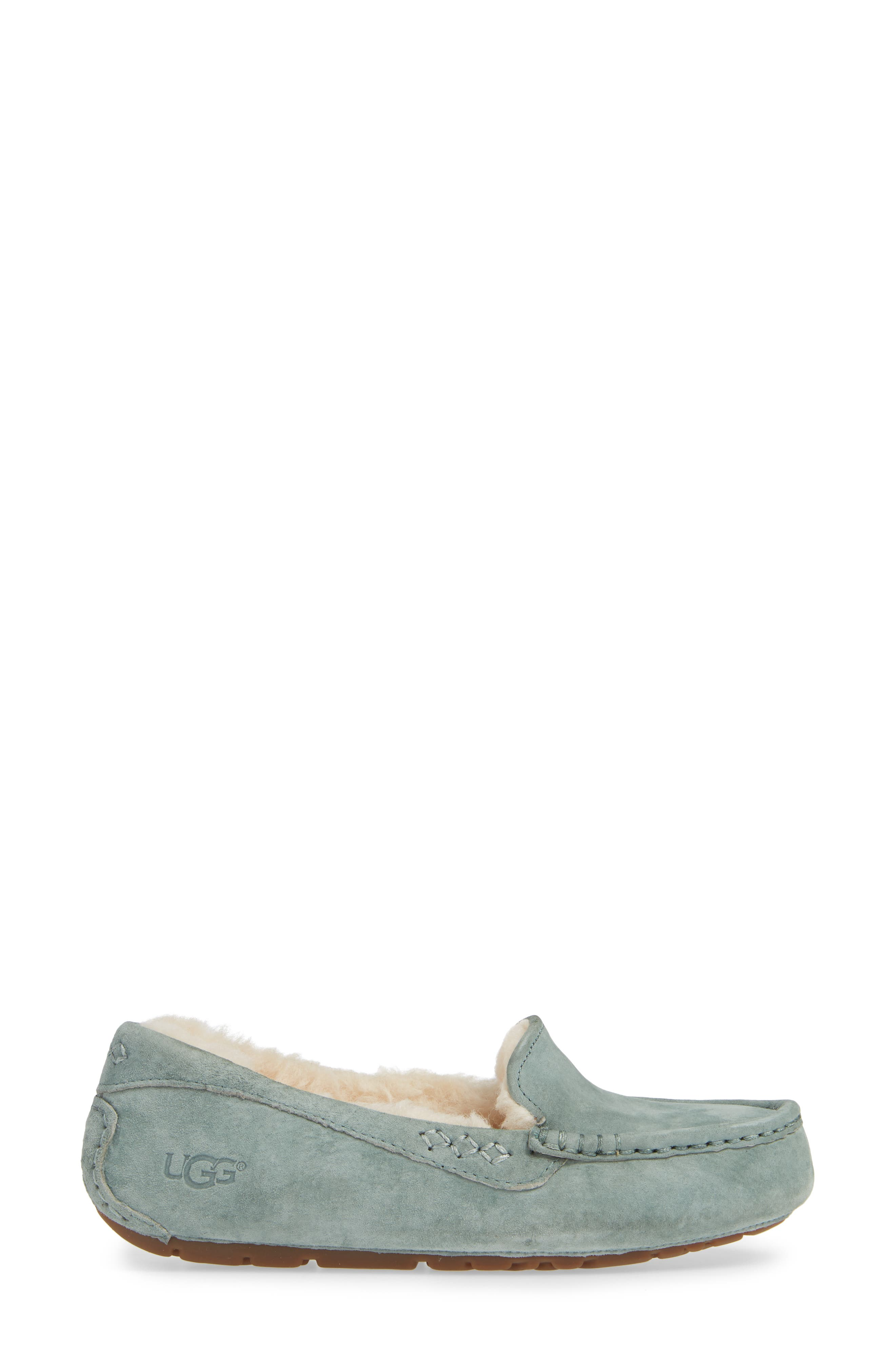 Ansley Water Resistant Slipper,                             Alternate thumbnail 4, color,                             Sea Green