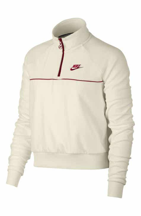 Nike Sportswear Quarter Zip Velour Pullover 9376a53fc
