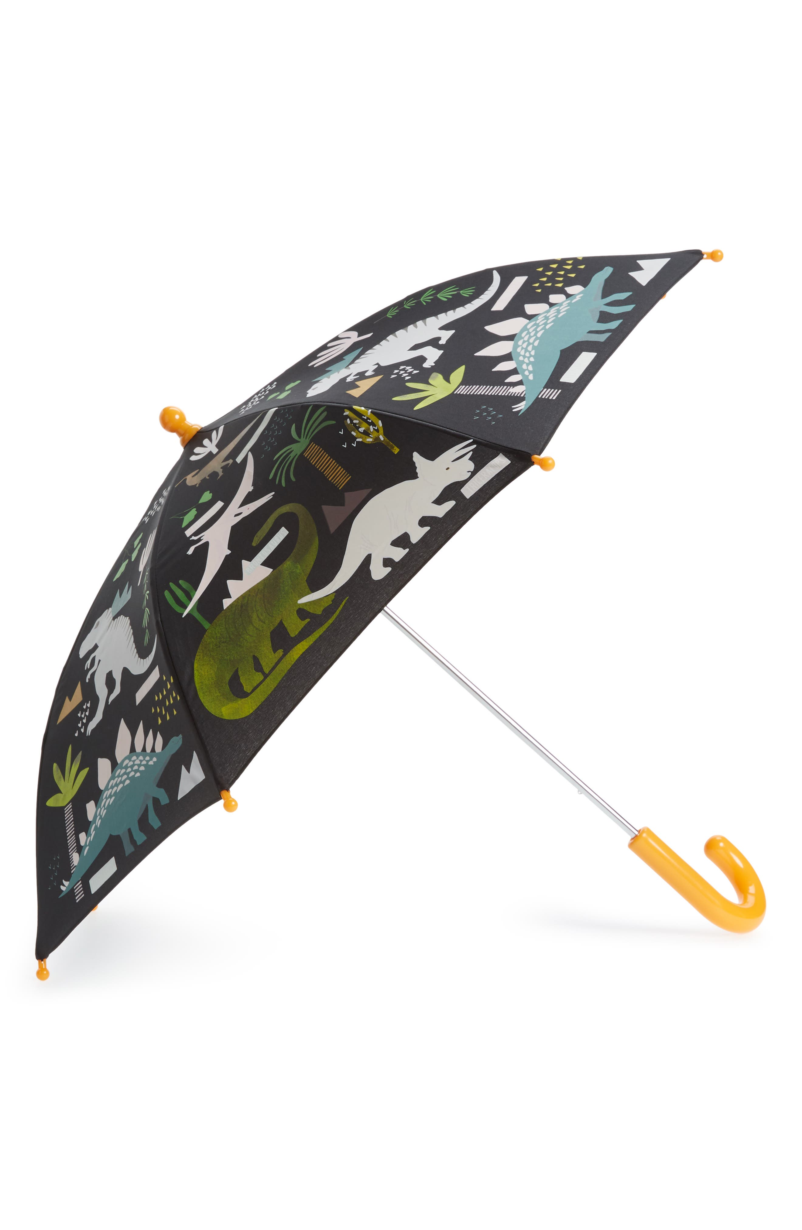 Floss & Rock Dinosaur Color Changing Umbrella,                             Main thumbnail 1, color,                             Black