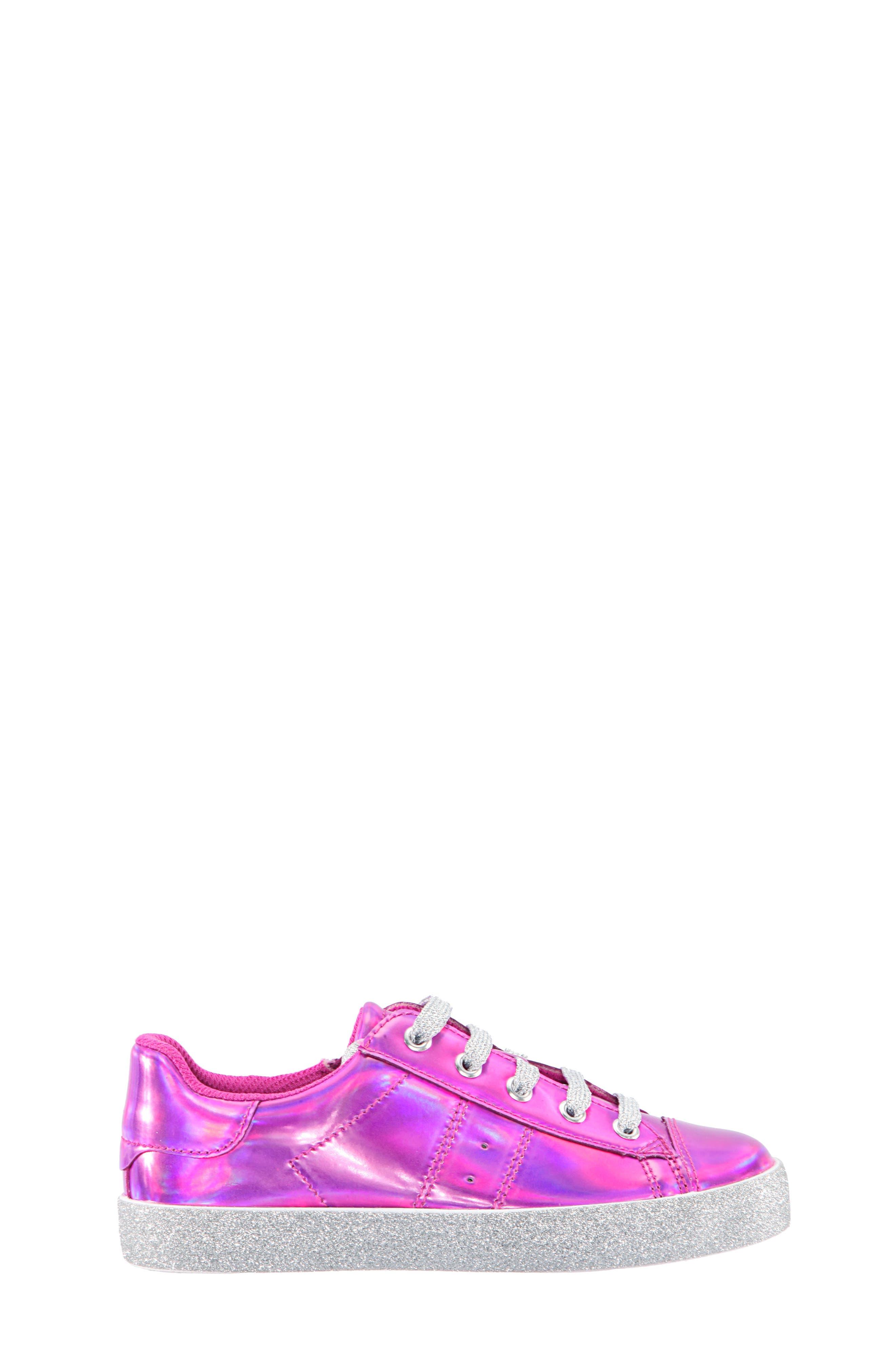 Jovana Glitter Low-Top Sneaker,                             Alternate thumbnail 5, color,                             Pink Patent