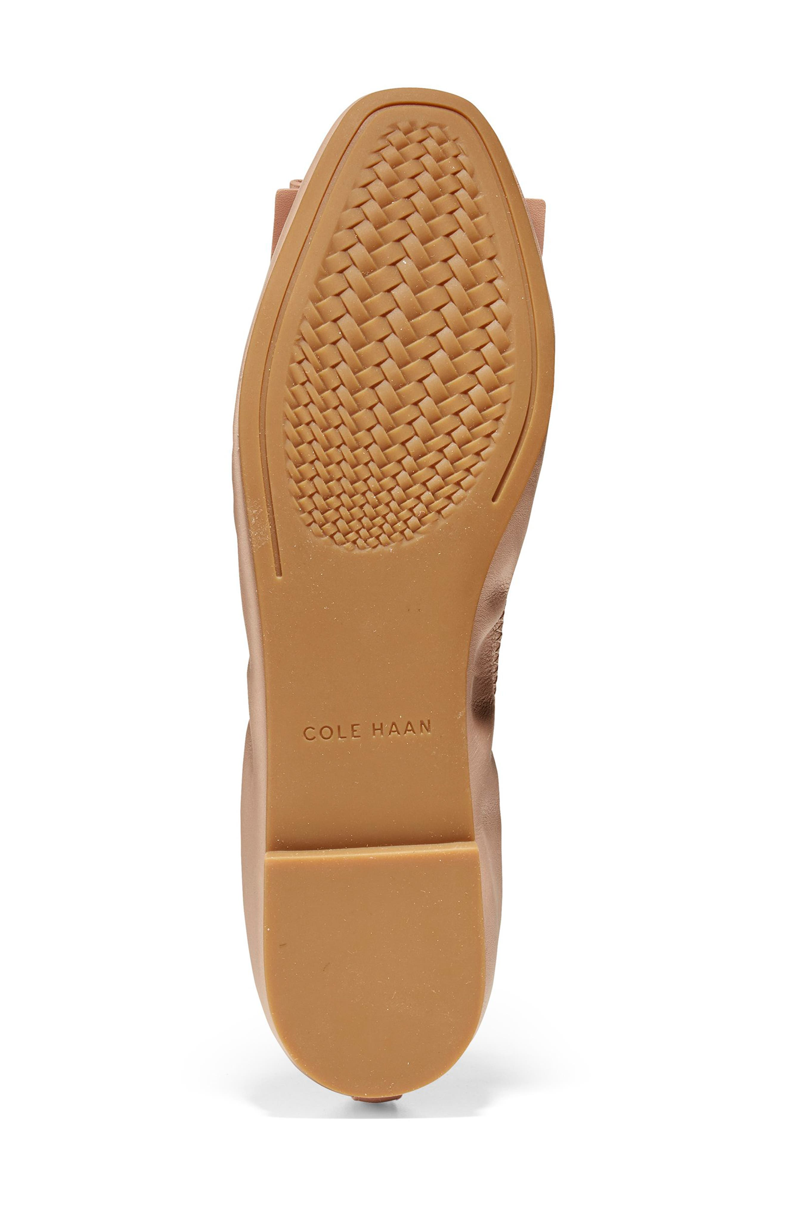 Tali Modern Bow Ballet Flat,                             Alternate thumbnail 4, color,                             Nude Leather