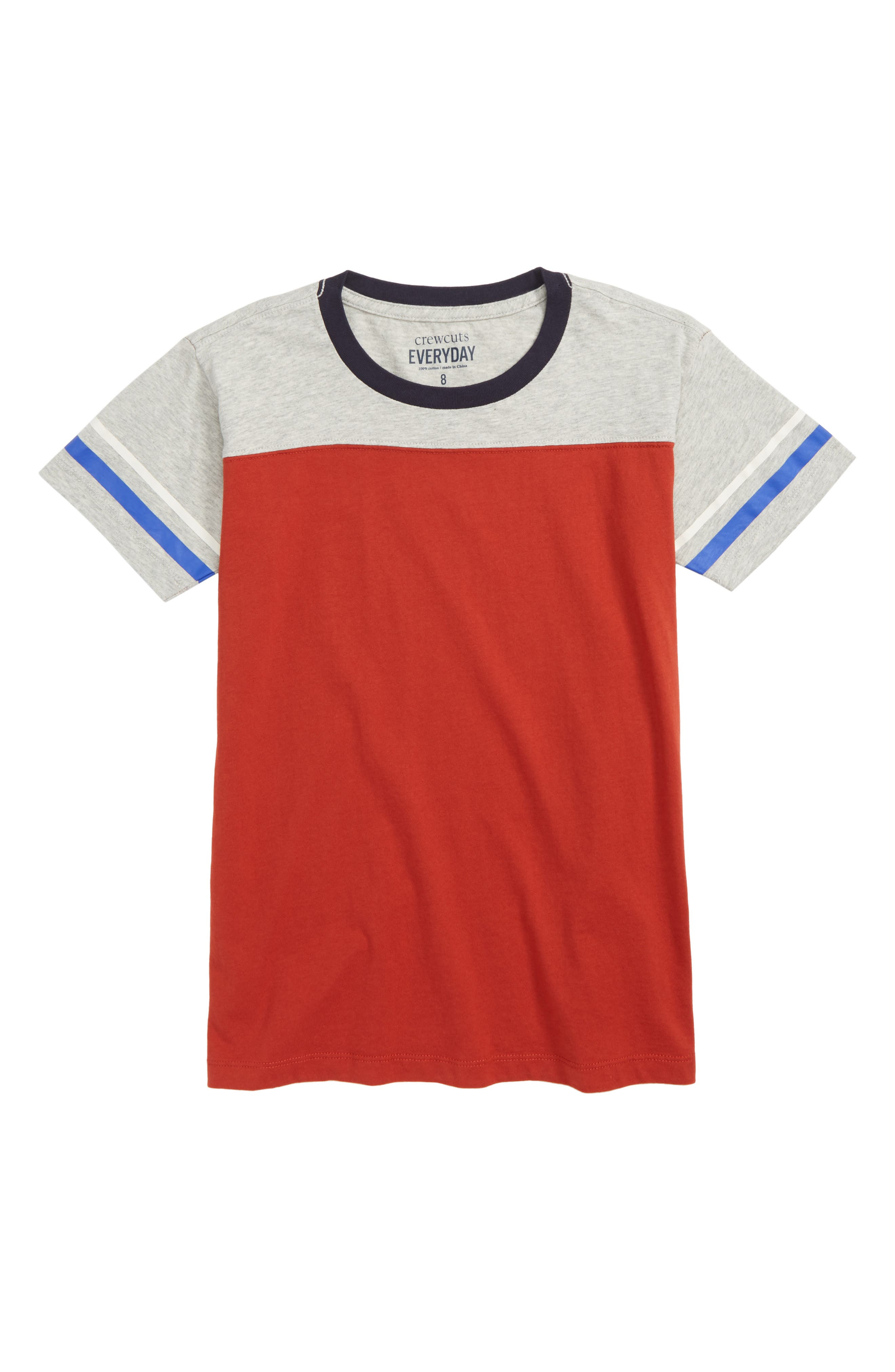 Stripe Football T-Shirt,                         Main,                         color, Red Multi