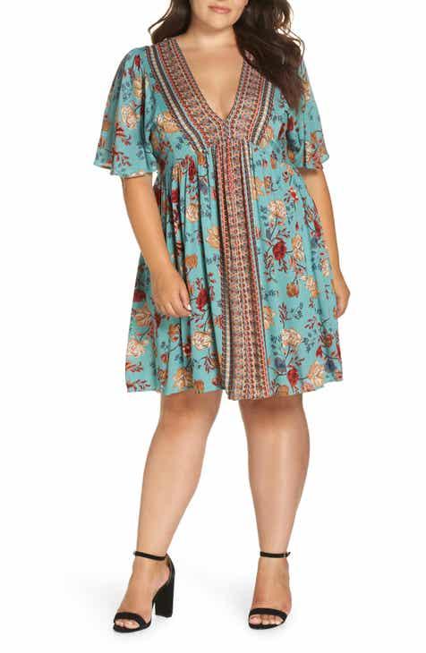 e0f0c82b8443 Angie Floral Swing Dress (Plus Size)