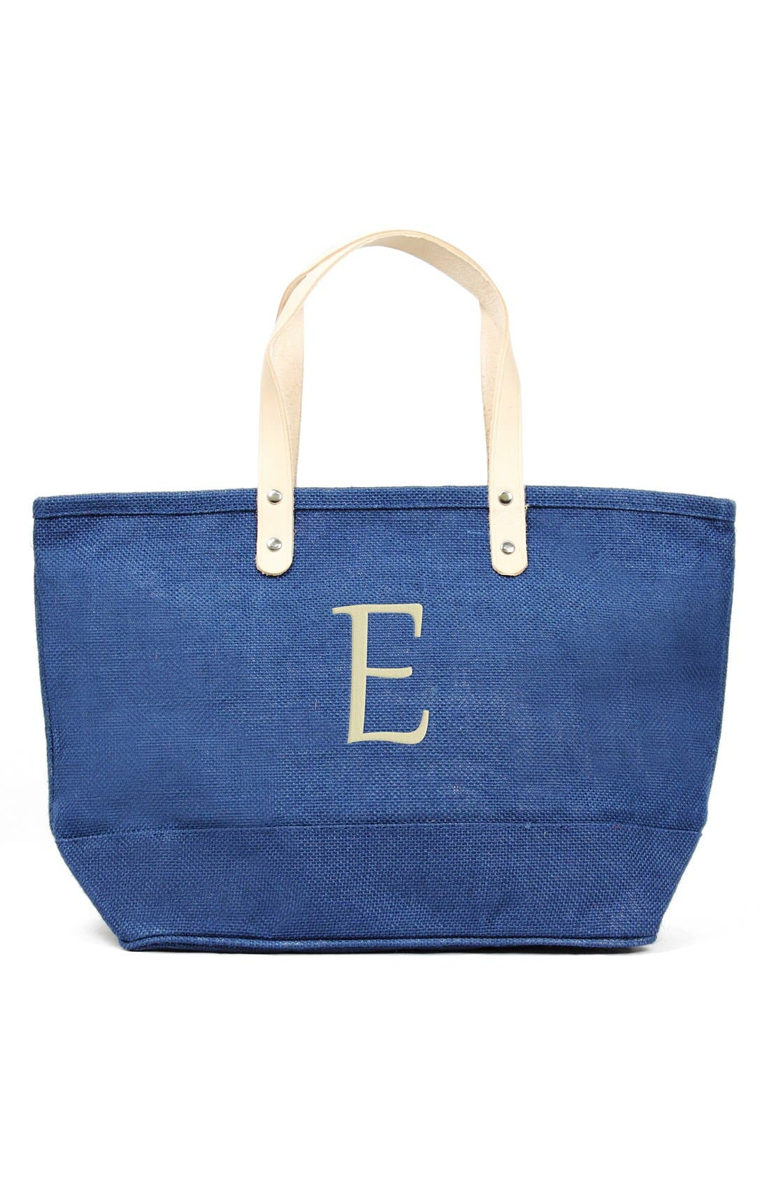 CATHYS CONCEPTS Nantucket Monogram Jute Tote