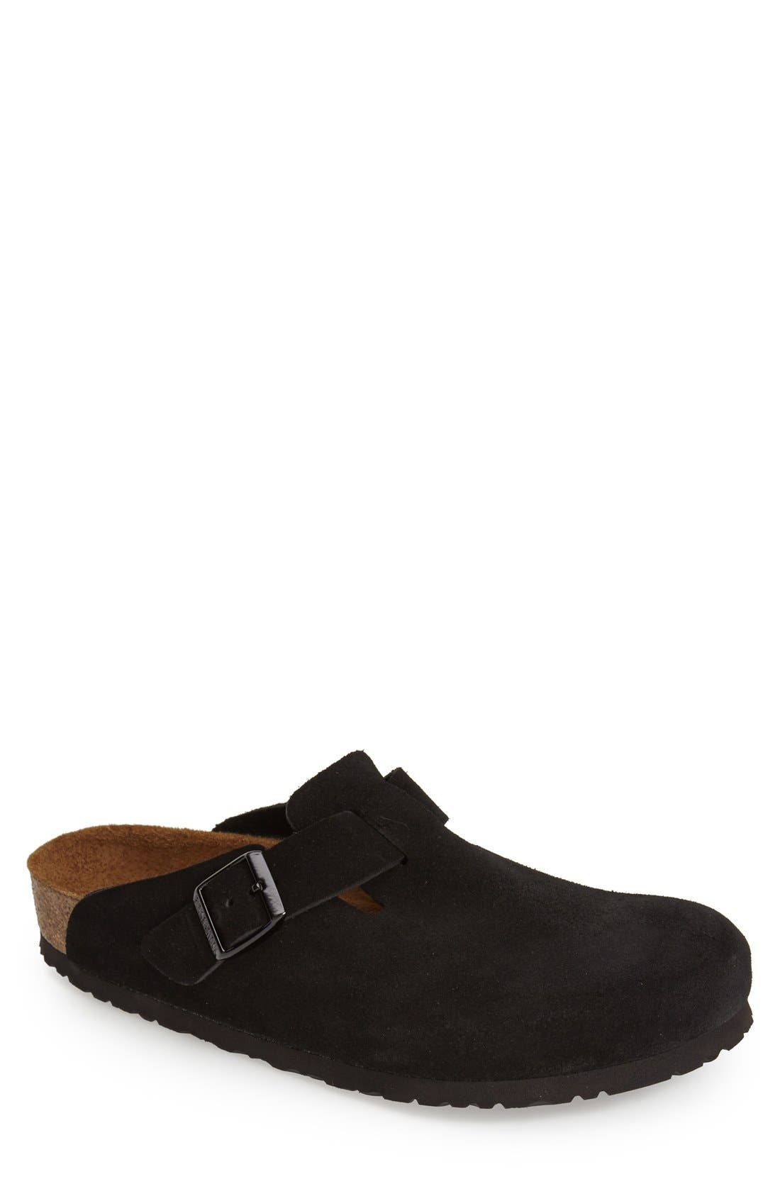 'Boston Soft' Clog,                             Main thumbnail 1, color,                             Black