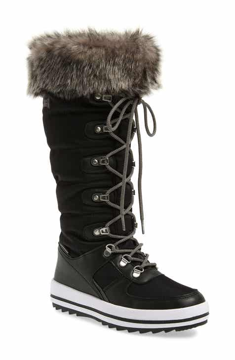 Cougar Vesta Faux Fur Collar Knee High Snow Boot (Women) (Wide Calf) 83ed5d9a1