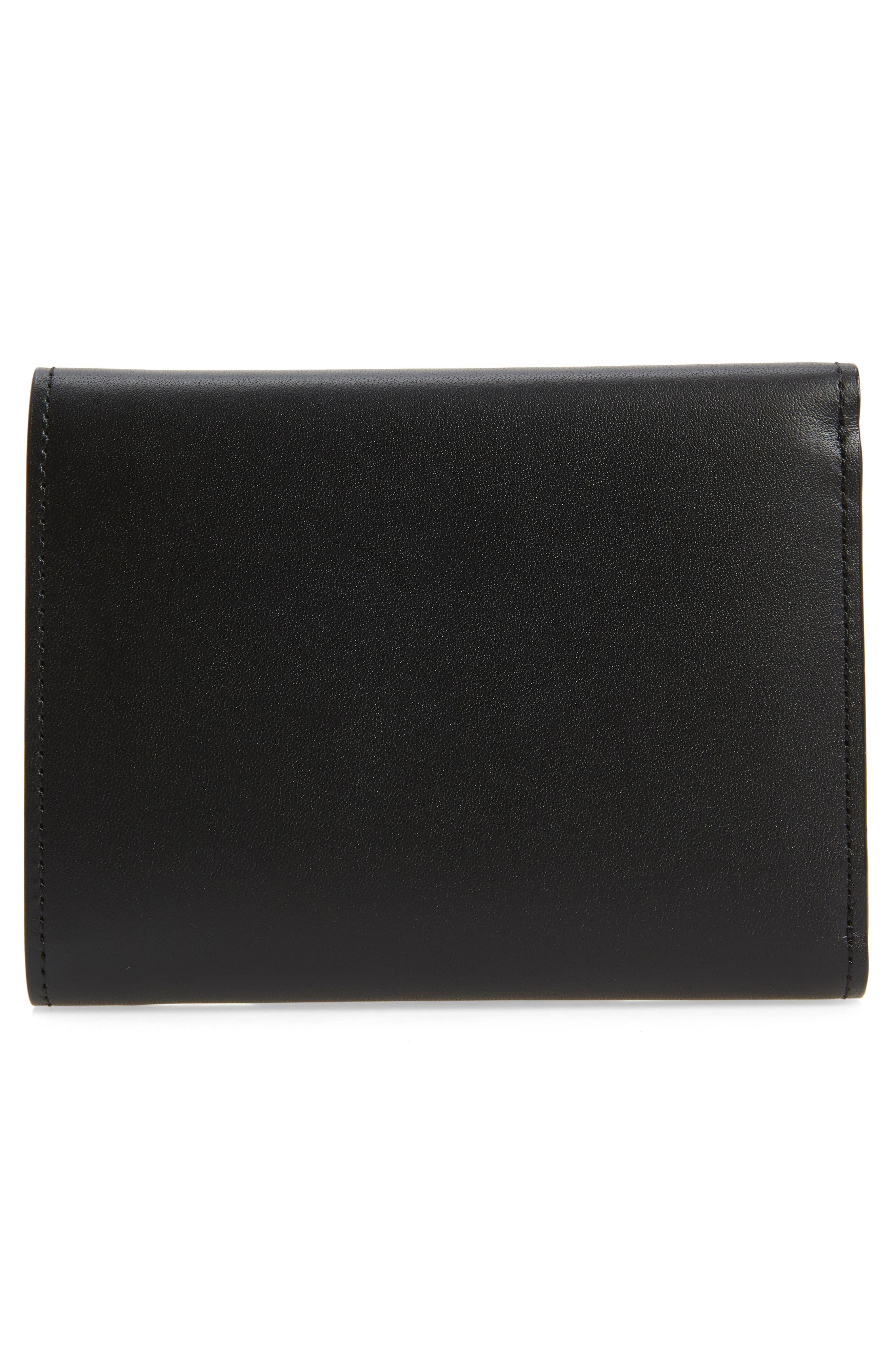 Spacemen Leather Wallet,                             Alternate thumbnail 3, color,                             Black