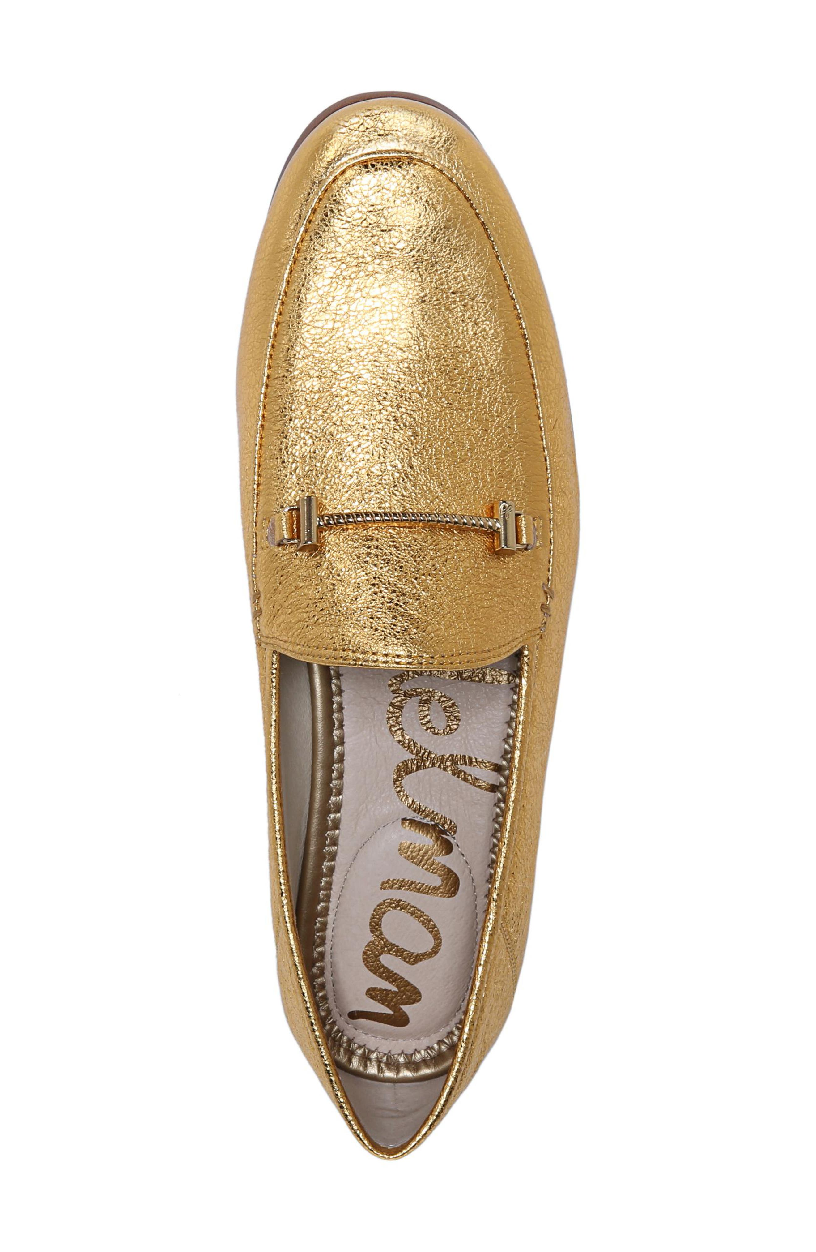 Lior Loafer,                             Alternate thumbnail 6, color,                             Exotic Gold Leather