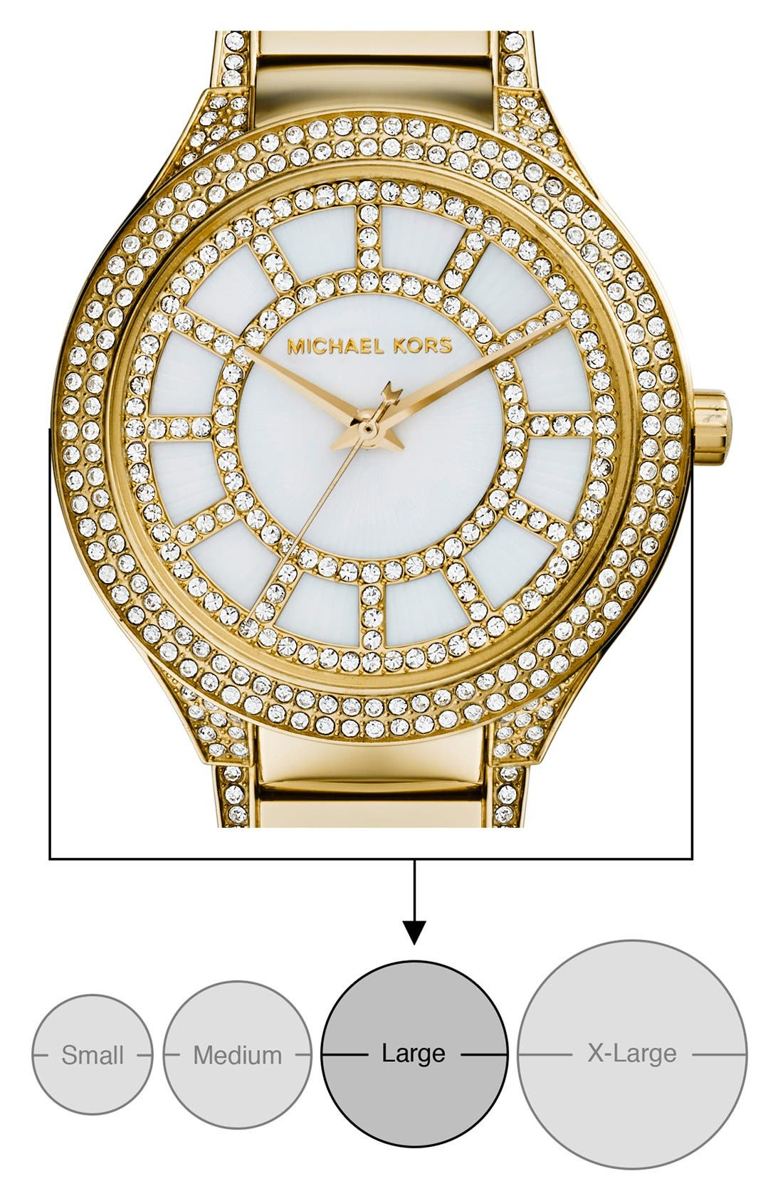 Alternate Image 4  - Michael Kors 'Kerry' Crystal Accent Bracelet Watch, 38mm