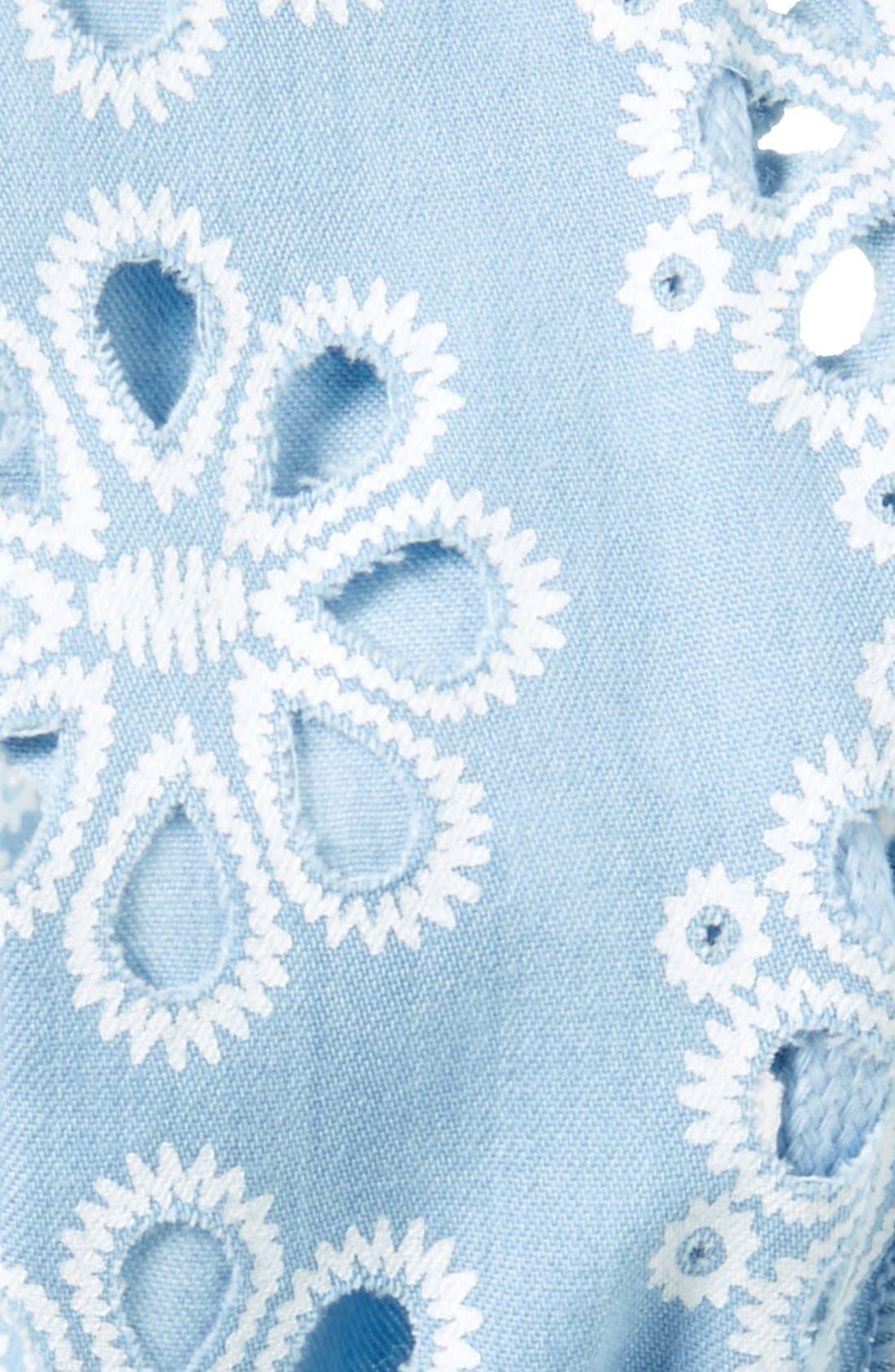 Alternate Image 2  - Cara Crochet Eyelet Wired Head Wrap