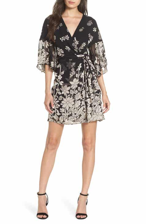 French Connection Elise Satin Faux Wrap Dress