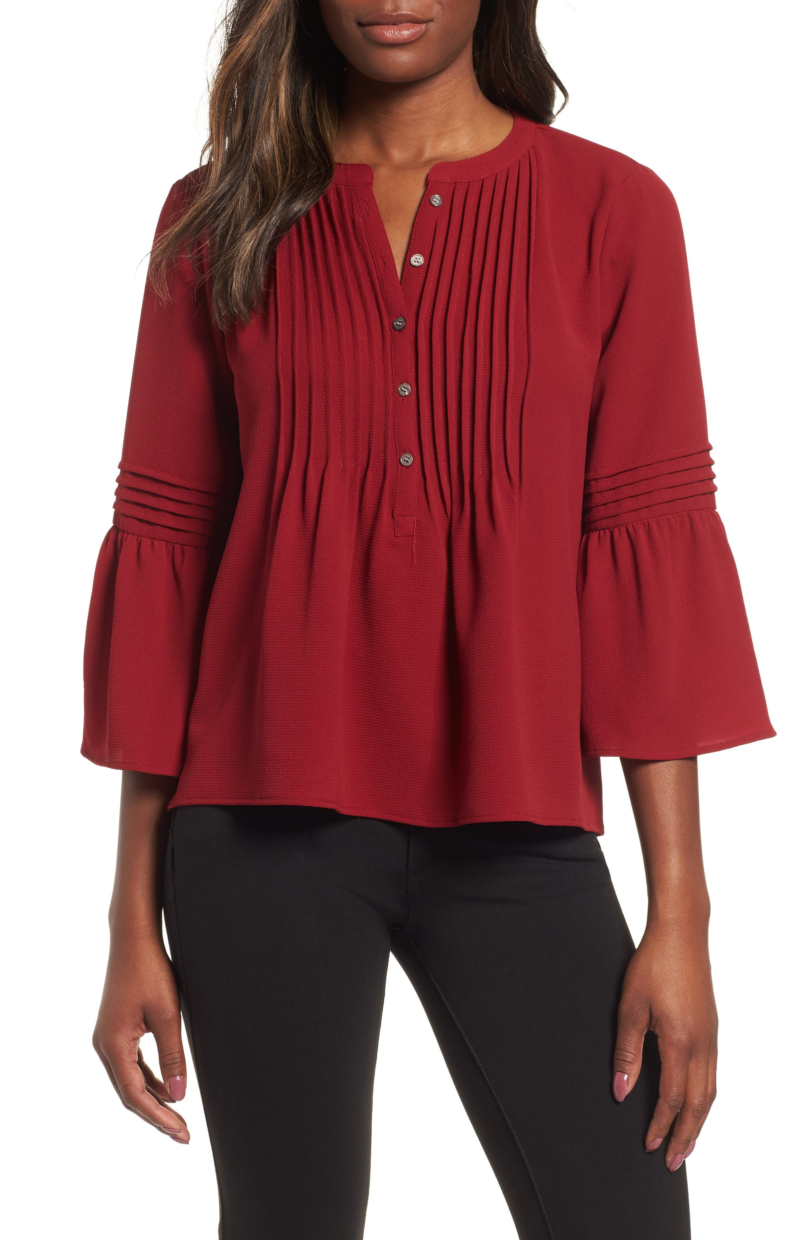 4bb02e955f322c burgundy blouses for women | Nordstrom