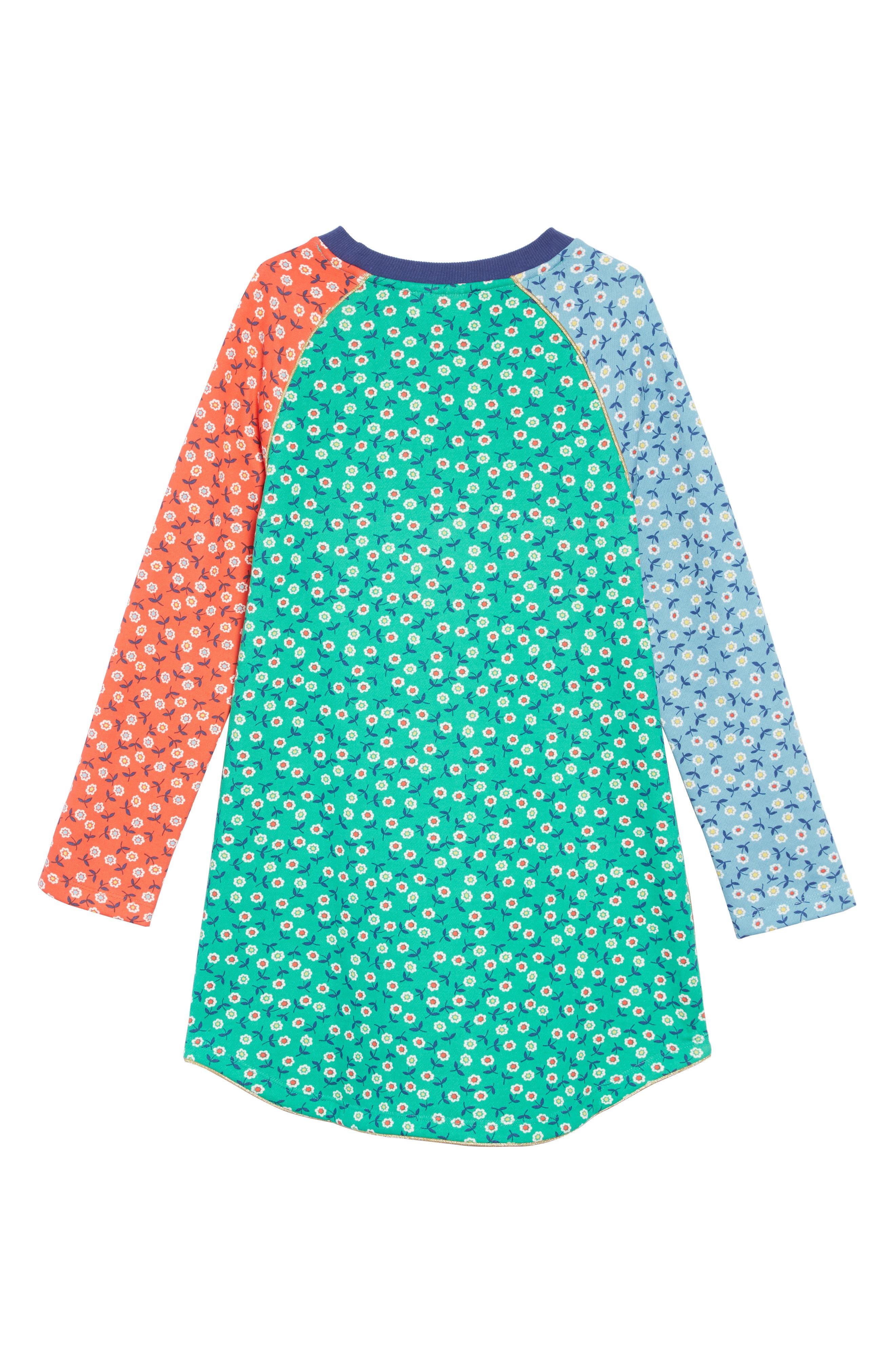 Cozy Sweatshirt Dress,                             Alternate thumbnail 2, color,                             Multi Retro Daisies