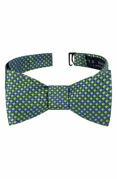 Mens bow ties ties skinny ties pocket squares for men nordstrom ted baker london parquet square silk bow tie ccuart Image collections