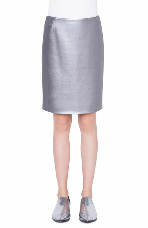 Akris punto Coated Metallic Jersey Pencil Skirt by AKRIS PUNTO