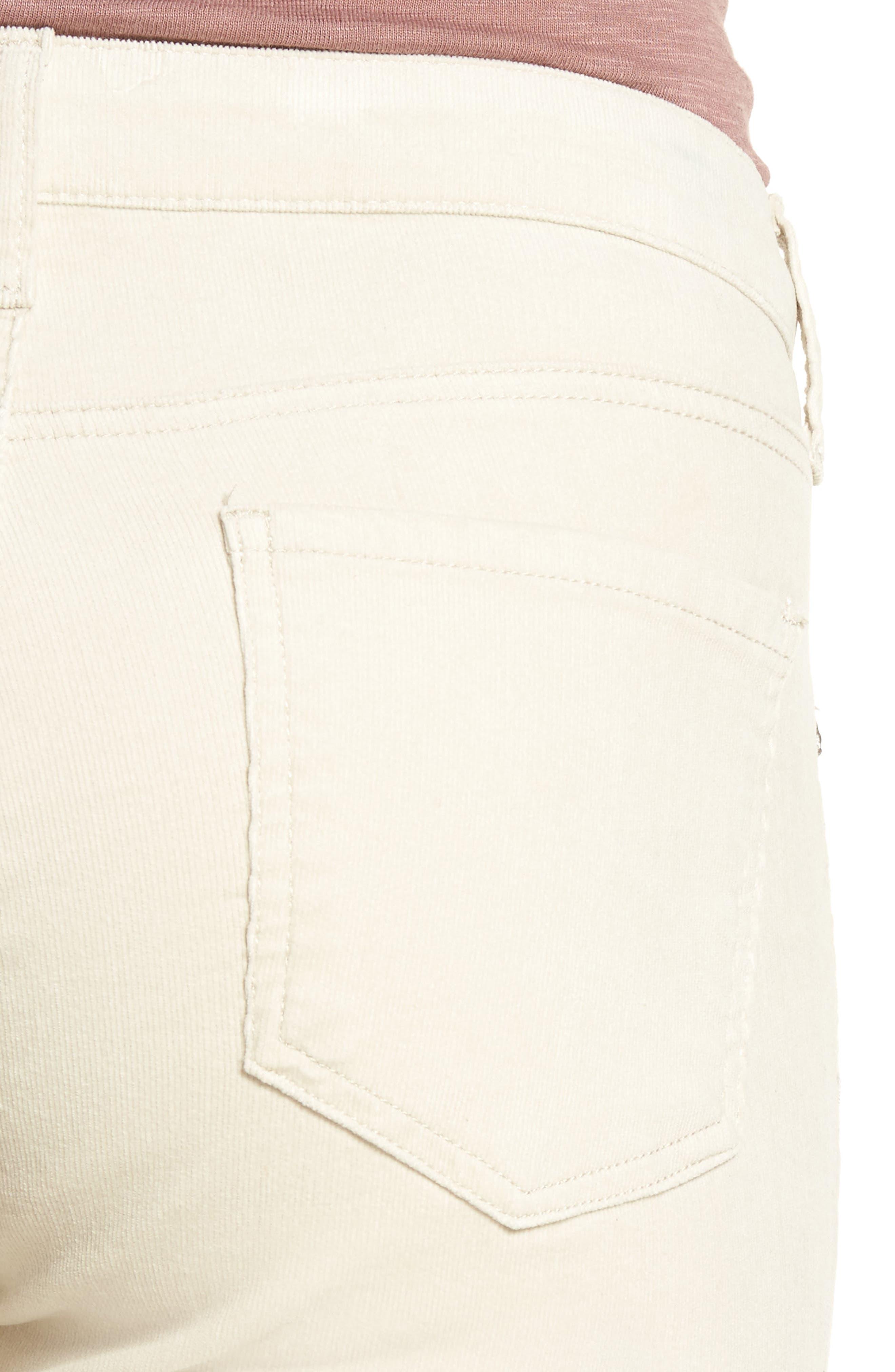 Diana Stretch Corduroy Skinny Pants,                             Alternate thumbnail 4, color,                             Light Tan 2
