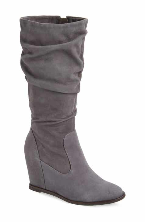 61888259588 Johnston   Murphy Nicole Wedge Boot (Women) (Wide Calf)