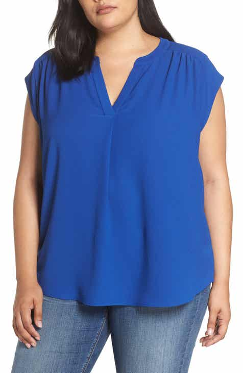 4148f1fa9799 Gibson Split Neck Top (Plus Size)