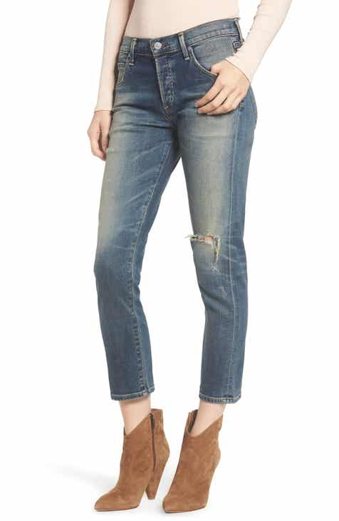 0de6a211c4 Citizens of Humanity Elsa Ripped Crop Slim Jeans (Break  Em In)