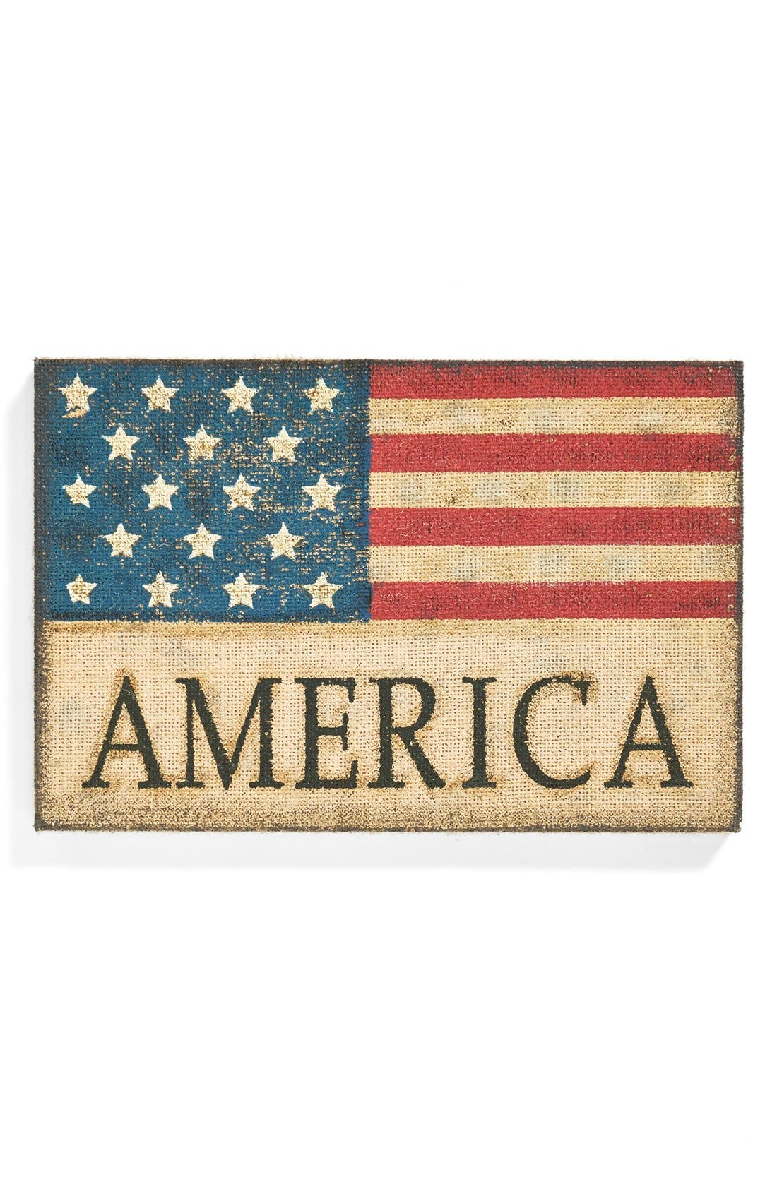 Alternate Image 1 Selected - Transpac 'Americana' Burlap Wall Sign