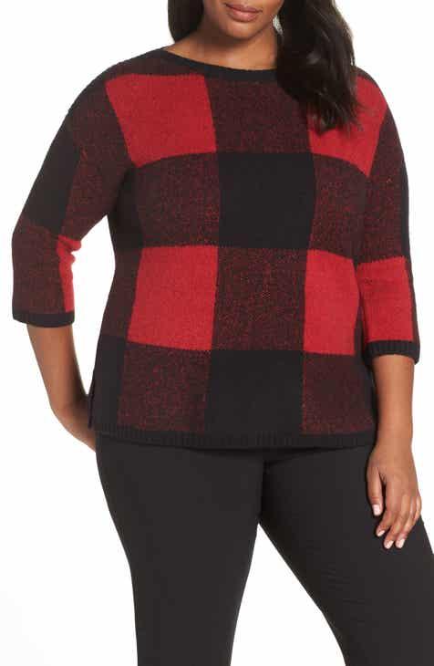 a0b9931b223 Sejour Buffalo Plaid Sweater (Plus Size)