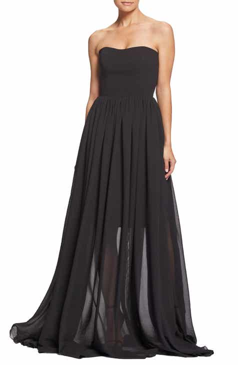 Black Strapless Dress Nordstrom