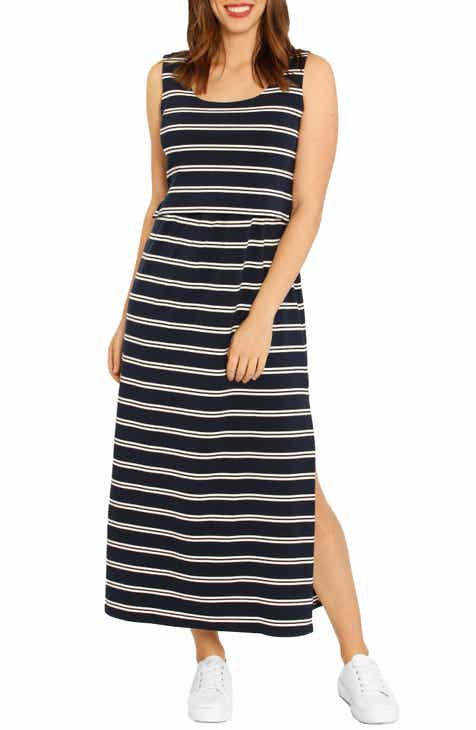Angel Maternity Busy Mama Maternity/Nursing Maxi Dress by ANGEL MATERNITY