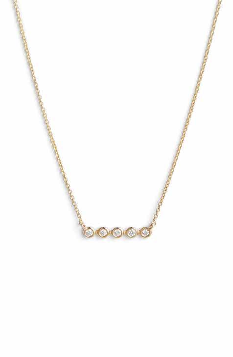 ea2ac2732 Dana Rebecca Designs Lulu Jack Bezel Diamond Bar Necklace. $330.00. Product  Image. YELLOW GOLD