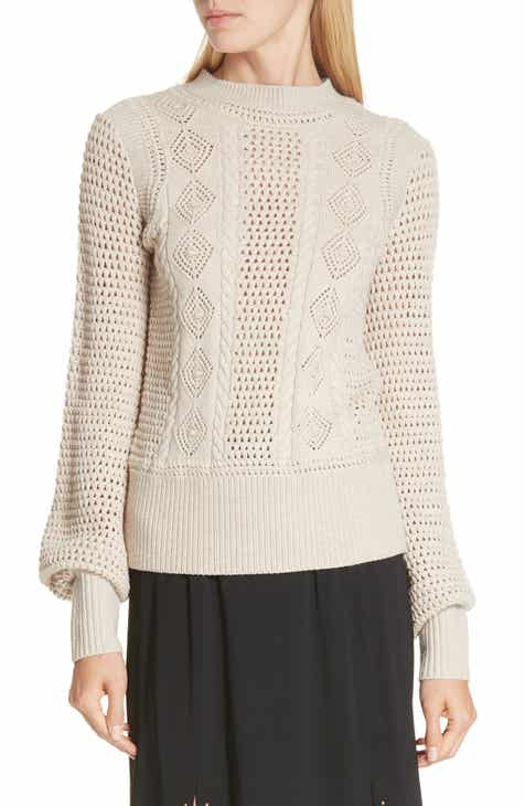 c9ce71141525 See by Chloé Pointelle Knit Sweater