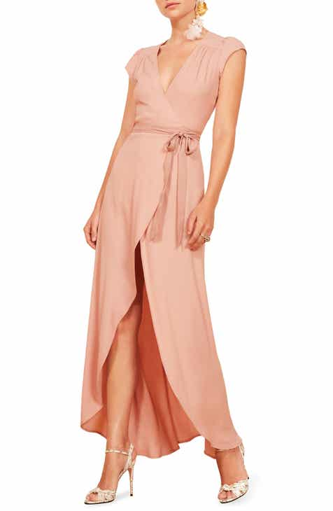 2d871a1279b Reformation Chamomile Wrap Maxi Dress