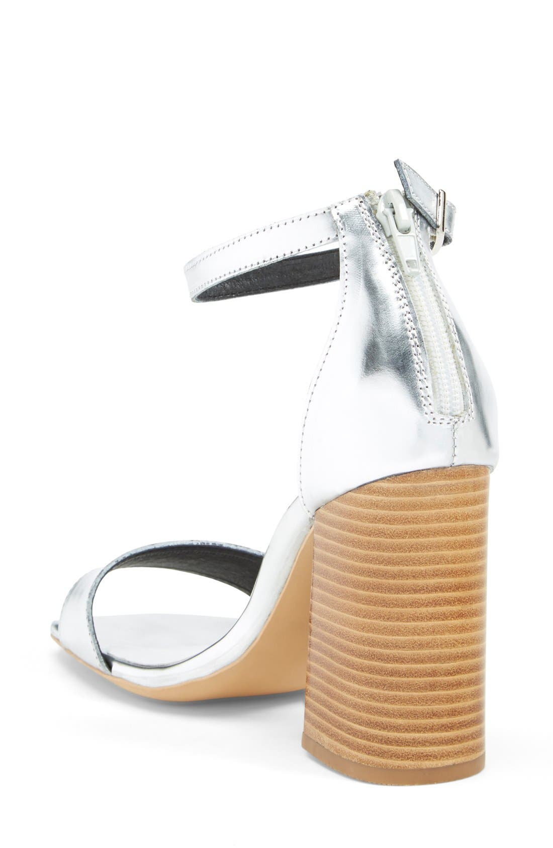Alternate Image 2  - Jeffrey Campbell 'Manor' Metallic Leather Ankle Strap Sandal (Women)
