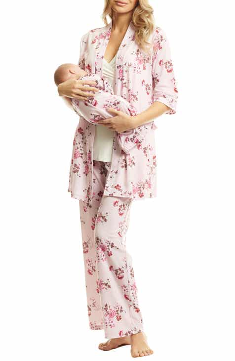 Everly Grey Analise During   After 5-Piece Maternity Nursing Sleep Set 3b1341b875b01