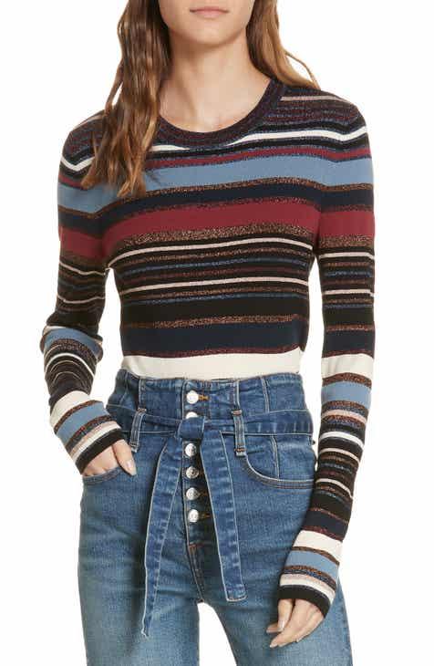 Veronica Beard Palmas Metallic Stripe Sweater 8e8f150bd