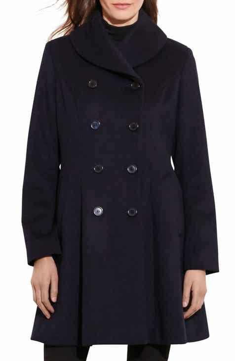 d9bd6ae6158 Lauren Ralph Lauren Fit   Flare Military Coat