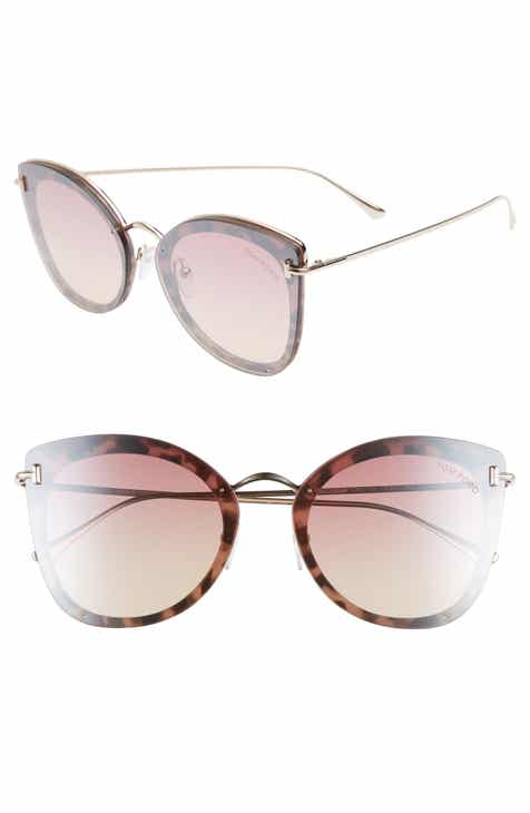 55fef869c1 Tom Ford 62mm Oversize Butterfly Sunglasses